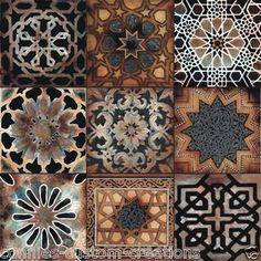 Old World Art Tile Kitchen Back Splash Ceramic Mosaic Turkish Mediterranean   eBay