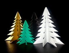Origami Christmas Tree   Folded by Vlatka Fric #kirigami #paper #pine #art #design #christmas