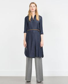 ZARA - PROMOCIJA - LONG TUNIC WITH SIDE VENTS