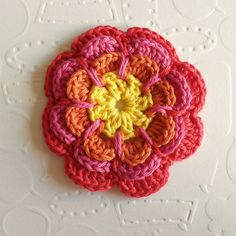 Crochet pattern for flower embellishment:  great photos as well!