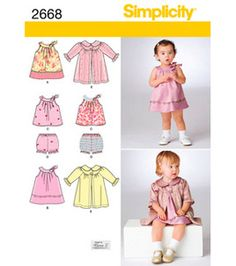 Simplicity Pattern 2668-Babies Dresses-Xxs Xs S M L : Baby Patterns : sewing patterns : fabric :  Shop | Joann.com