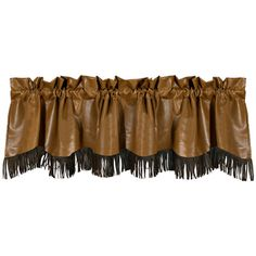 """Delectably-Yours.com Las Cruces Fringed Faux #Leather #Western #Valance 88"""" x 18"""" #DelectablyYours #WesternDecor"""