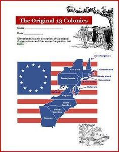 Original 13 Colonies Facebook and Questions Activity Common Core Aligned. Students will enjoy this great way to learn about the 13 Colonies! $: https://www.teacherspayteachers.com/Product/Original-13-Colonies-Facebook-and-Questions-Activity-Common-Core-78290
