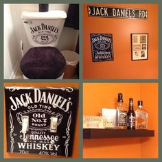 Bathroom apartment jack daniels New Ideas Festa Jack Daniels, Jack Daniels Decor, Jack Daniels Party, Jack Daniels Bottle, Wood Bathroom, Bathroom Layout, Small Bathroom, Jack O'connell, Man Cave Bar