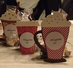 Party favors for my 12 year Old using my cricut love you a latte cartridge