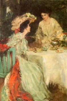Ladies Having Tea - Henry Salem Hubbell