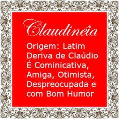 Significado do nome Claudineia | Significado dos Nomes