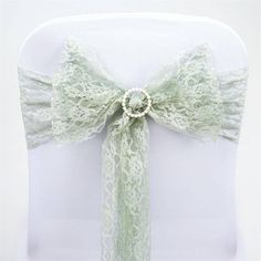 """5 PCS Reseda Lace Chair Sashes Tie Bows Catering Wedding Party Decorations - 6""""x108"""""""