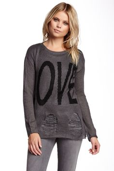 Romeo & Juliet Couture Love Ripped Sweater M