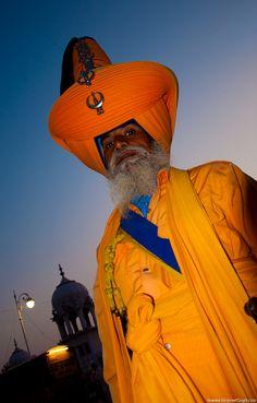 A Nihang Sikh at Gurudwara Damdamaa Sahib, Punjab (India)
