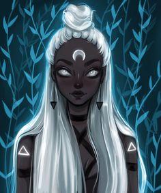 Black Art Print by MuzenikArt - X-Small art girl Dark Fantasy Art, Fantasy Kunst, Cartoon Kunst, Cartoon Art, Art And Illustration, Goddess Art, Black Art Pictures, Beautiful Pictures, Black Girl Art