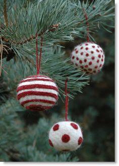 Christmas Felted Bauble kit giveaway; International · Felting   CraftGossip.com