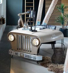 Willy Jeep Desk https://fancy.com/things/963441613726552197/Willy-Jeep-Desk?ref=Inspirationfeed