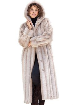 Faux Fur Long Coats - JacketIn