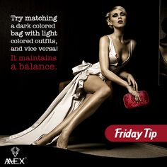 #FridayTip: Try matching a dark colored #bag with light colored #outfits, and vice versa! It maintains a balance.