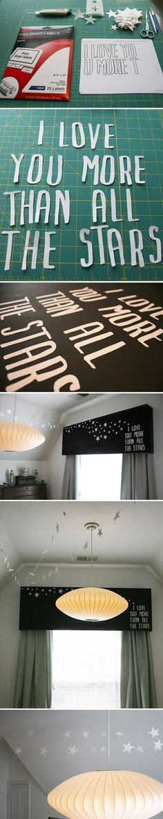 "I'd love to tie this in to a Peter Pan theme for Levi's room. ""Second star to the right and straight on til morning"""