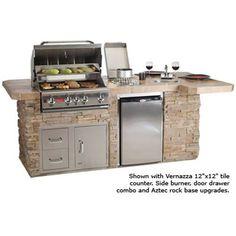Outdoor kitchen idea.