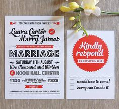 retro vintage wedding invitation by project pretty | notonthehighstreet.com