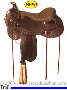 Tucker Horseshoe Bend - Close contract competitive trail saddle with a tree that you can rope off of.