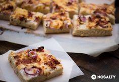 Házi kenyérlángos Hawaiian Pizza, Banana Bread, Cake Recipes, French Toast, Bacon, Paleo, Food And Drink, Cooking Recipes, Breakfast Ideas