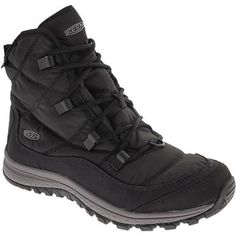 KEEN Terradora Ankle Wp Comfort Winter Boots - Womens Black Steel Grey