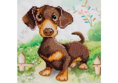 Dachshund Bead Embroidery Kit by VDV is one of a range of quality bead embroidery designs using Precosia seed beads on background printed fabric. Dog Lover Gifts, Dog Gifts, Dog Lovers, Embroidery Kits, Beaded Embroidery, Embroidery Designs, Kit Diy, Dog Coloring Page, Dachshund Gifts
