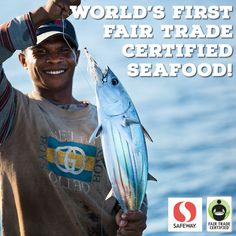 Breaking News: World's FIRST #FairTrade certified seafood is here, thanks to @fairtradeusa !  Share this post and support hard-working fishermen in Indonesia: http://fairtrd.us/FairSeafood #FairSeafood – Available @Safeway , @Vons_Pavilions, and @AcmeMarkets now!