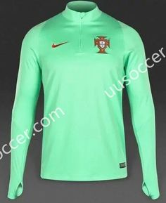 2016 European Cup Portugal Green Thailand Tracksuit Top