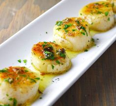 Lemon Herb Butter Scallops | Food Recipes