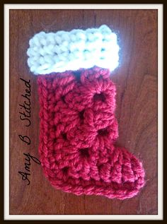 A Stitch At A Time for Amy B Stitched: Granny Square Stocking Ornament Pattern