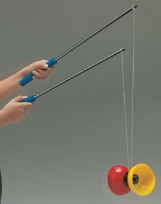 diabolo--when we were in Chile, our son acquired one of these-it was super popular with the children there.