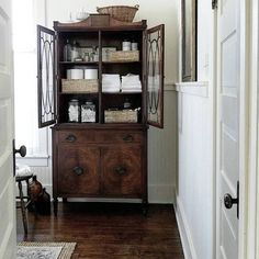 Decorating with antique furniture cabinets commodes tables dressers secretary desks in the bathroom ideas tips luxury interior design powder room Cabinet Furniture, Home Decor Furniture, Furniture Design, Bathroom Furniture, Bathroom Cabinets, Furniture Ideas, Barbie Furniture, Furniture Stores, Garden Furniture