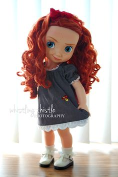 disney animator's doll clothing, Princess Merida - She is so cute! Disney Baby Dolls, Disney Princess Dolls, Pretty Dolls, Beautiful Dolls, Blythe Dolls, Girl Dolls, Pocahontas, Disney Animators Collection Dolls, Disney Animator Doll