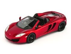 TrueScale Miniatures 1:43 McLaren MP4 12C Diecast Model Car 134338 This McLaren MP4 12C Spider RHD (2013) Diecast Model Car is Volcano Red and has working wheels and also comes in a display case. It is made by TrueScale Miniatures and is 1:43 scale (approx. 10cm / 3.9in long).
