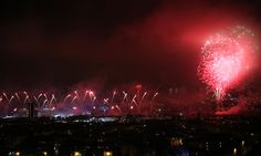 Fireworks explode over the river Clyde as they mark the opening of the Commonwealth Games Glasgow 2014,
