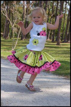 ladybug ruffle skirt
