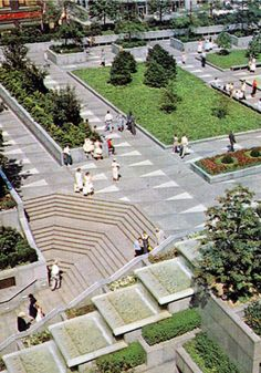 Opened in 1955, Pittsburgh's Mellon Square has recently been restored to its modern glory. Click image for full profile and visit the slowottawa.ca boards >> http://www.pinterest.com/slowottawa/