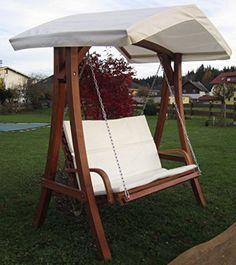 Design Hollywoodschaukel Gartenschaukel Hollywood Schaukel Aus Holz Lärche  Mit Dach Modell: U0027KUREDO 103u0027
