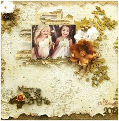 Created by Di Garling for 2 Crafty chipboard & Green Tara Flowers.