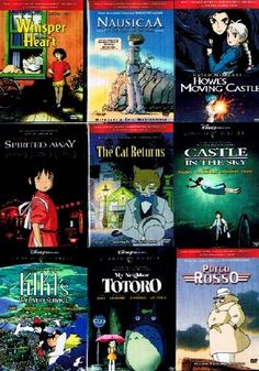 The Best of Miyazaki Collection (9 Pack) ~ My Neighbor Totoro / Nausicaa Of The Valley Of The Wind / Whisper of The Heart / Kiki's Delivery Service / Howl's Moving Castle / The Cat Returns / Porco Rosso / Castle In The Sky / Spirited Away (9 films, 18-DVDs, 956-minutes) Disney / Buena Vista http://www.amazon.com/dp/B001G5PPVC/ref=cm_sw_r_pi_dp_xwgevb04C62ZY