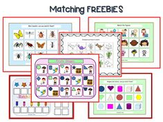 FREE File Folder Interactive Matching tasks for students with Special Needs & Autism.