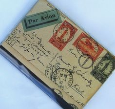 PASSPORT COVER  Vintage Postcard by sugarcanetrain808 on Etsy, $5.00
