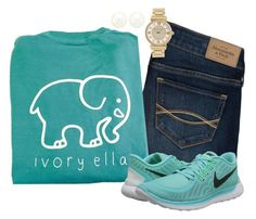 """""""Ivory Ella"""" by keileeen ❤ liked on Polyvore featuring Abercrombie & Fitch, NIKE, Charlotte Russe and Michael Kors"""