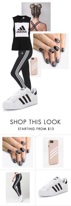 """adidas"" by noodle-353 on Polyvore featuring alfa.K, adidas and adidas Originals"