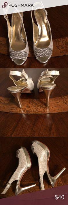 8ce21a5f71e3 Antonio Melani Sandal Silver jeweled platform dress sandal. Heel size 3.93  inches ANTONIO MELANI Shoes