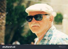 Happy senior man enjoying vacation