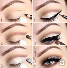 If you would like transform your eyes and also increase your appearance, finding the best eye make-up tips and hints can help. You'll want to make certain you wear make-up that makes you look even more beautiful than you already are. Winged Eyeliner, Smokey Eye Makeup, Skin Makeup, Eye Brows, Eyeliner Makeup, Kajal Eyeliner, Shape Eyebrows, Eyeliner Ideas, Apply Eyeliner