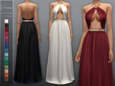 The Sims 4 mody do gry: Sukienka Venus od Sifix The Sims 4 Pc, Sims Four, Sims 4 Tsr, Sims Cc, Sims 4 Mods Clothes, Sims 4 Clothing, Sims 4 Challenges, Sims 4 Black Hair, The Sims 4 Cabelos