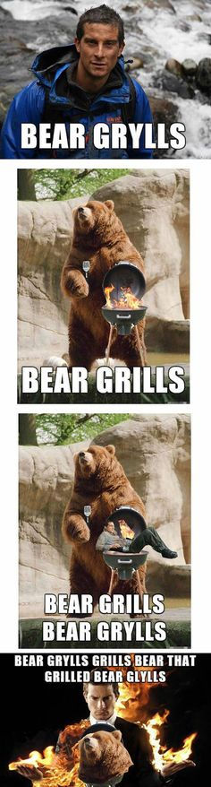 Bear Grylls vs. Bear grills. Know the difference!