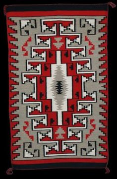 A rare Navajo Ganado rug. Sophisticated and earthy. Wool is hand-dyed from the weaver's sheep..